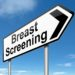 Illustration depicting a sign directing to Breast Screening.