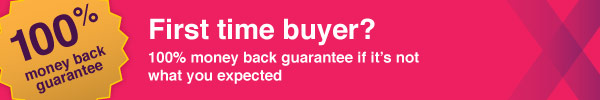 100% money back guarantee for first time buyers