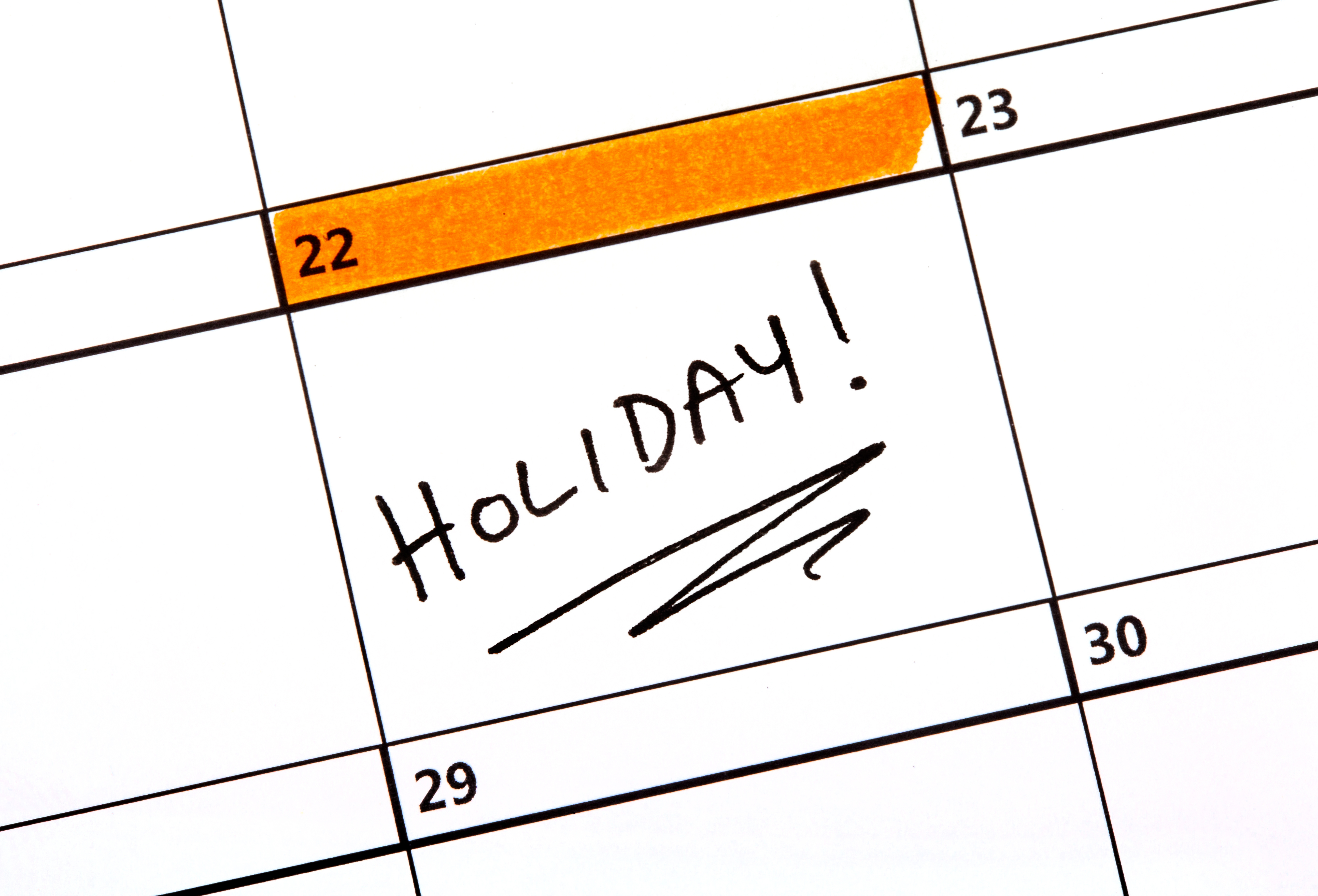 Holiday Scheduler Software