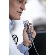 Microphone in use